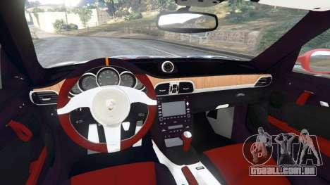 GTA 5 Porsche 997 GT2 RS [race] traseira direita vista lateral