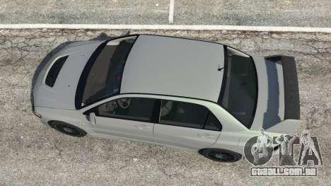 GTA 5 Mitsubishi Lancer Evolution VIII MR voltar vista