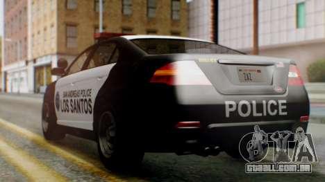 GTA 5 Police LS para GTA San Andreas esquerda vista