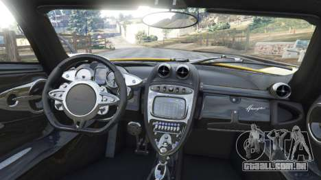 GTA 5 Pagani Huayra 2013 v1.1 [yellow rims] traseira direita vista lateral