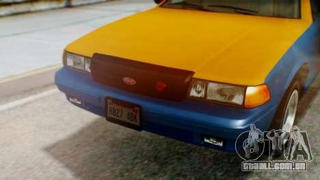 Vapid Taxi with Livery para GTA San Andreas vista traseira