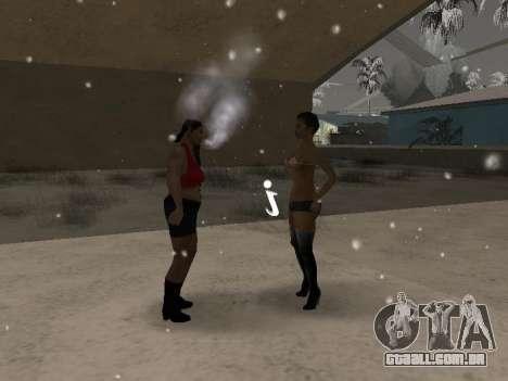 Casais boca CJ ya e transeuntes para GTA San Andreas terceira tela