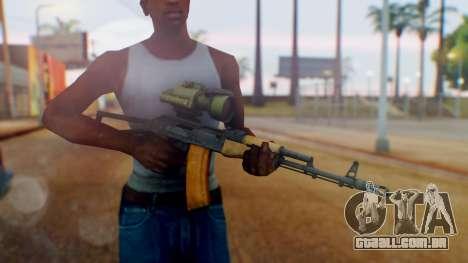 Arma OA AK-47 Night Scope para GTA San Andreas terceira tela