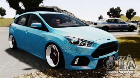Ford Focus RS 2017 Camber para GTA 4 vista direita