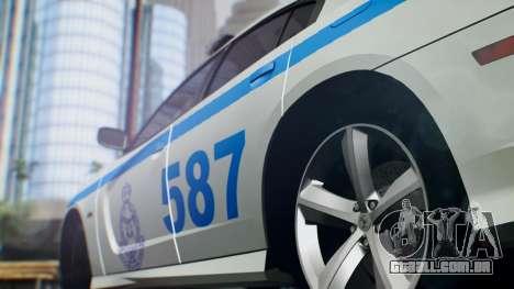 Dodge Charger SRT8 2015 Police Malaysia para GTA San Andreas traseira esquerda vista