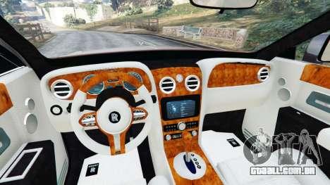 GTA 5 Rolls Royce Ghost 2014 v1.2 traseira direita vista lateral