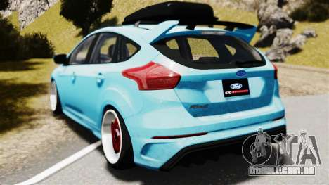 Ford Focus RS 2017 Camber para GTA 4 esquerda vista