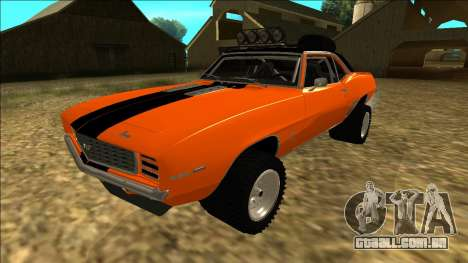 Chevrolet Camaro SS Rusty Rebel para GTA San Andreas vista superior