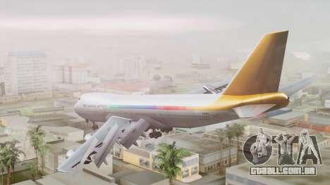 Boeing 747-100 The Hawaii Express Jason Everest para GTA San Andreas esquerda vista