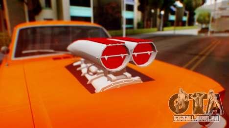 Ford Mustang 1966 Chrome Edition v2 Monster para vista lateral GTA San Andreas