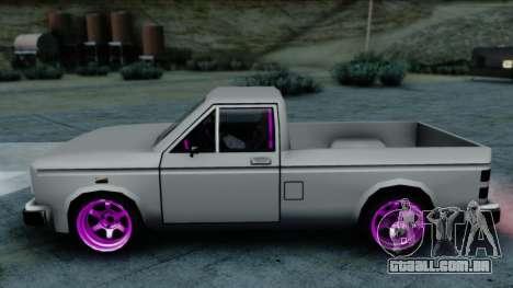 Bobcat Drift para GTA San Andreas traseira esquerda vista