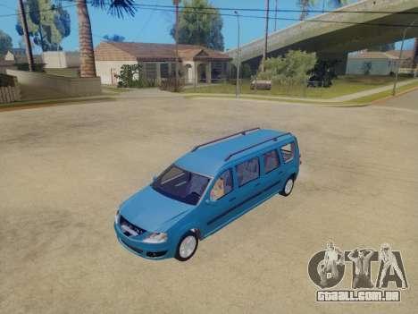 Lada Largus 7-door para GTA San Andreas traseira esquerda vista