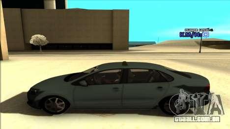 Volkswagen Polo para GTA San Andreas vista interior