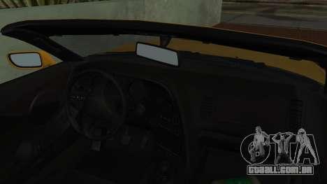 Toyota Supra TRD 1998 para GTA San Andreas vista traseira