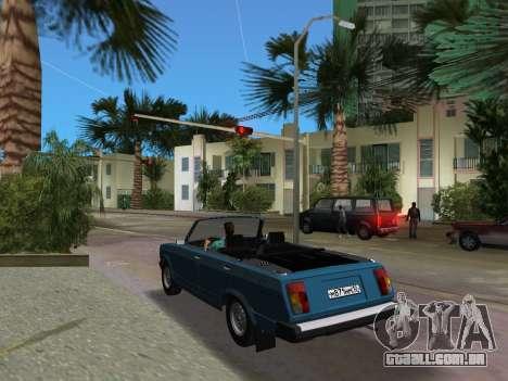VAZ 21047 Conversível para GTA Vice City vista traseira esquerda