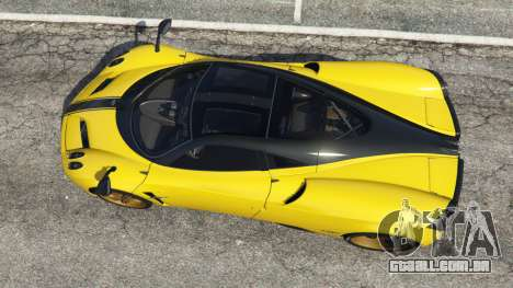 GTA 5 Pagani Huayra 2013 v1.1 [yellow rims] voltar vista