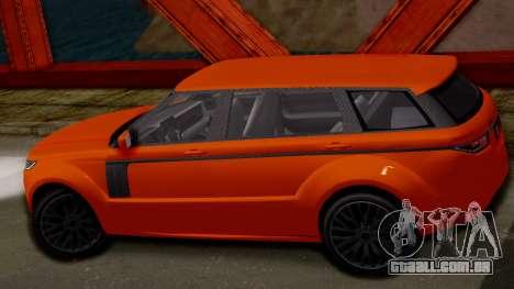 GTA 5 Gallivanter Baller LWB para GTA San Andreas traseira esquerda vista