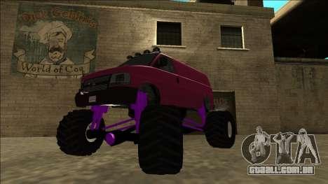 GTA 5 Vapid Speedo Monster Truck para GTA San Andreas traseira esquerda vista