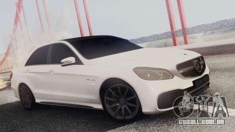 Mercedes-Benz E63 AMG PML Edition para GTA San Andreas interior