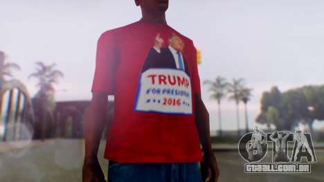 Trump for President T-Shirt para GTA San Andreas segunda tela