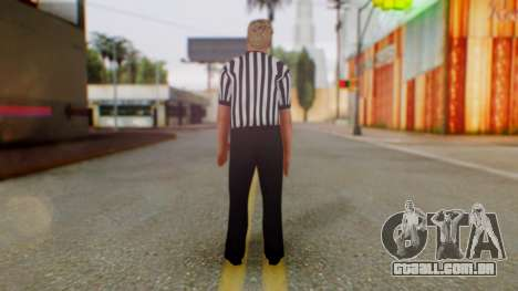 WWE Arbitro para GTA San Andreas terceira tela