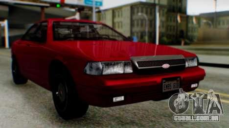 GTA 5 Vapid Stanier II para GTA San Andreas vista direita