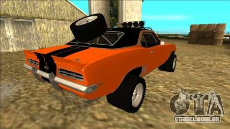 Chevrolet Camaro SS Rusty Rebel para as rodas de GTA San Andreas