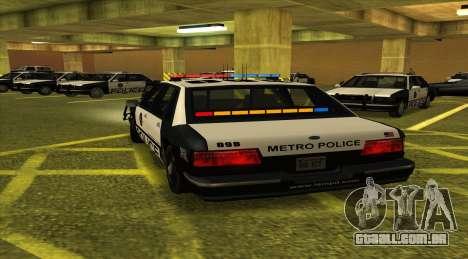 Police LS para GTA San Andreas traseira esquerda vista