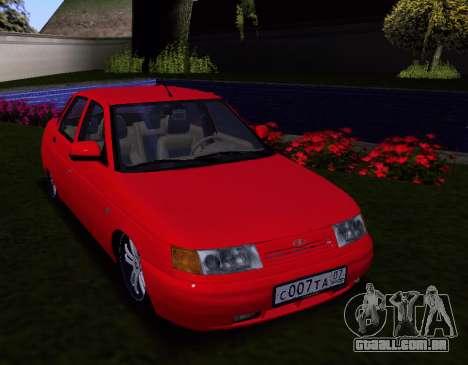 VAZ 2110 KBR para GTA San Andreas vista interior