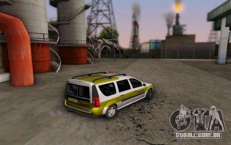 Dacia Logan Emdad Khodro para GTA San Andreas esquerda vista