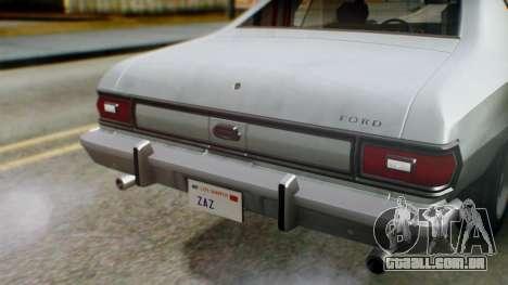Ford Gran Torino 1974 IVF para vista lateral GTA San Andreas