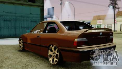 BMW M3 E36 SüvariGaragee para GTA San Andreas esquerda vista