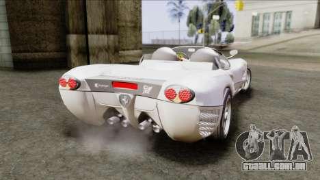 Ferrari P7 Yrid para GTA San Andreas esquerda vista