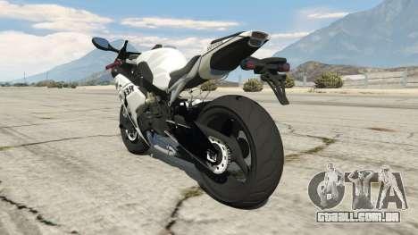 GTA 5 Honda CBR1000RR [Repsol White] traseira vista lateral esquerda