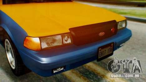 Vapid Taxi para GTA San Andreas vista traseira
