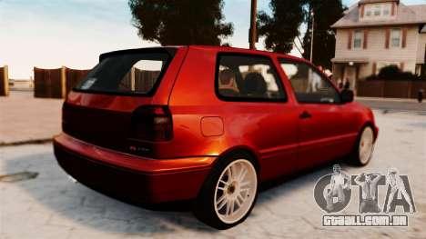 Volkswagen Golf VR6 1998 DTD Tuned para GTA 4 esquerda vista