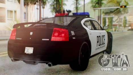New Police LS para GTA San Andreas esquerda vista