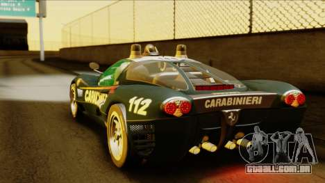 Ferrari P7 Carabinieri para GTA San Andreas esquerda vista