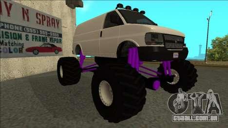 GTA 5 Vapid Speedo Monster Truck para GTA San Andreas esquerda vista