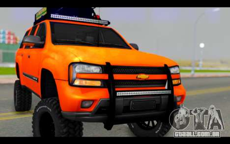 Chevrolet Traiblazer Off-Road para GTA San Andreas vista traseira