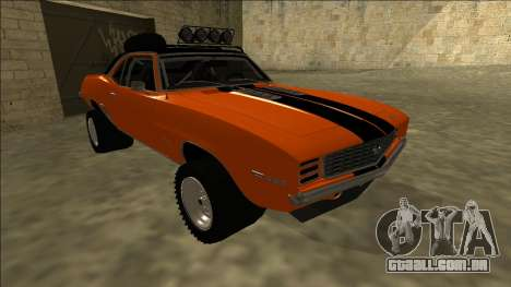 Chevrolet Camaro SS Rusty Rebel para GTA San Andreas esquerda vista