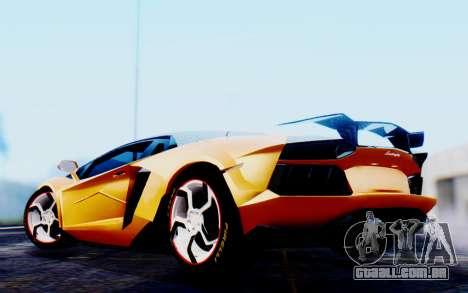 Lamborghini Aventador Mansory Carbonado Color para GTA San Andreas traseira esquerda vista