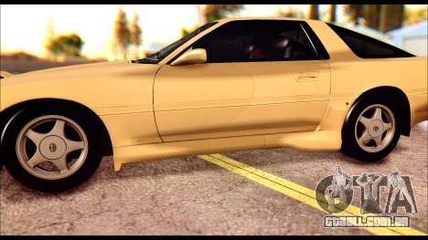 Toyota Supra MK3 Tunable para GTA San Andreas vista inferior