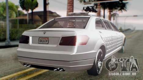 GTA 5 Benefactor Stretch E Turreted IVF para GTA San Andreas esquerda vista