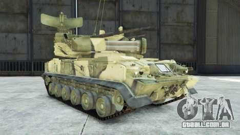 GTA 5 2К22 Tunguska vista lateral direita