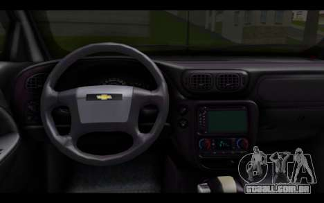 Chevrolet Traiblazer Off-Road para GTA San Andreas traseira esquerda vista