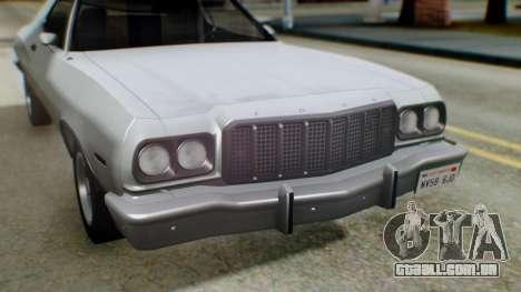 Ford Gran Torino 1974 IVF para GTA San Andreas vista inferior