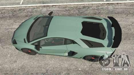 GTA 5 Lamborghini Aventador Super Veloce v0.2 voltar vista