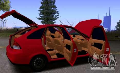 VAZ 2172 KBR para GTA San Andreas vista interior