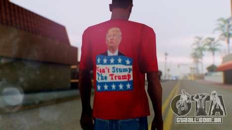 Trump for President T-Shirt para GTA San Andreas terceira tela